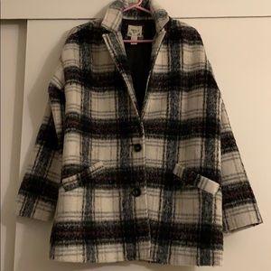 Plaid multi color coat